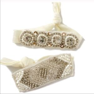 Accessories - Hand beaded hair ties NWT. 👁 catching! Set of 2